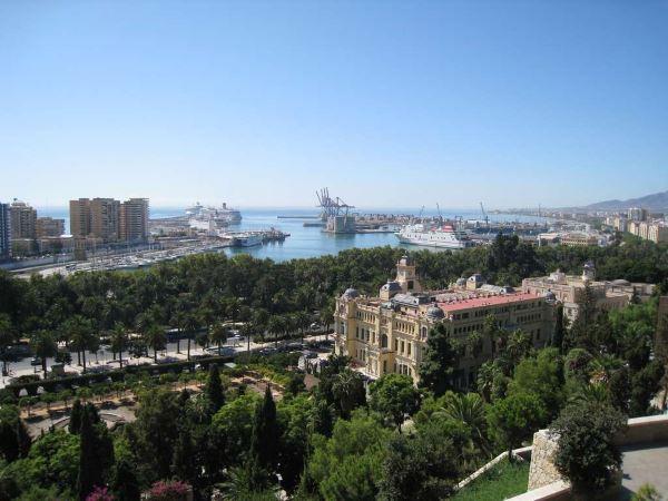Vista de Malaga desde Gibralfaro