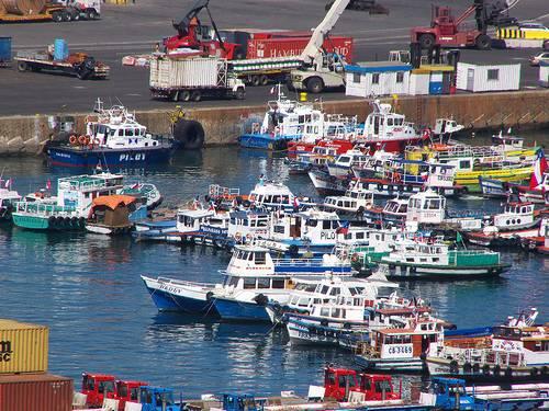 Puerto de Valparaíso en Chile