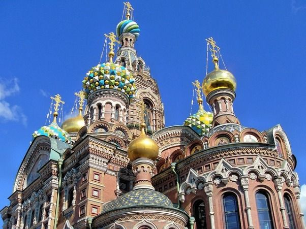 Iglesia Sangre Derramada en San Petersburgo