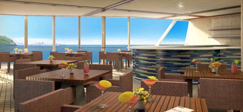 Cruceros Celebrity Cruises: Aqua Spa Café.