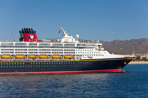 Disney Cruise Ship Wonder at Cabo San Lucas, Baja California, Mexico