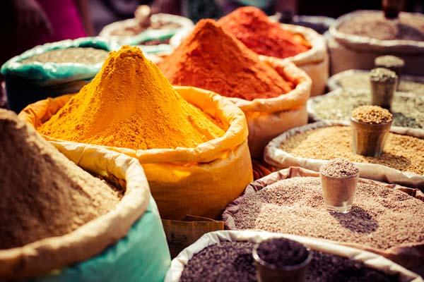 Alimentos y colores en Bombay