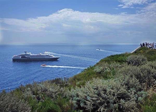 Barco en Córcega