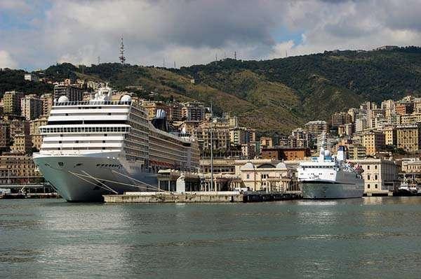 Puerto de Génova, Italia