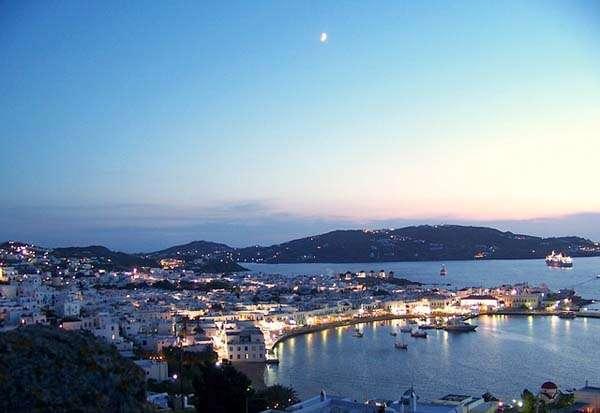 Vista de Mykonos