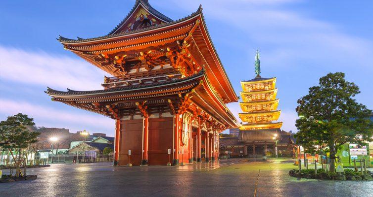 Tokyo - Sensoji Temple In Asakusa, Japan