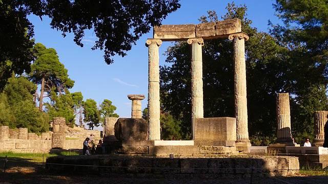 Monumentos en Olimpia