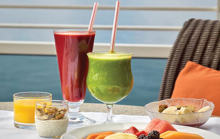 Menu vegano en Oceania Cruises