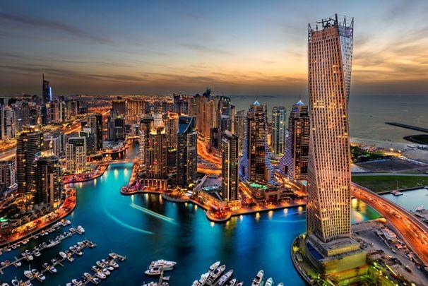 Vista aérea de Dubai
