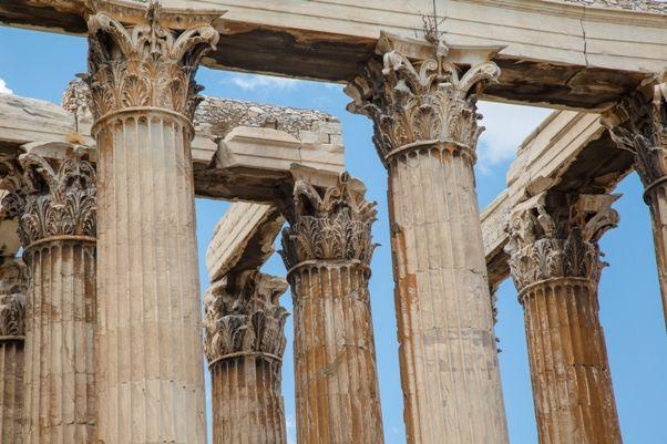 El templo de Zeus en Olimpia