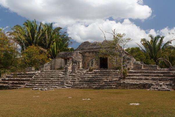 Mahahual - ruinas mayas de Kohunlich