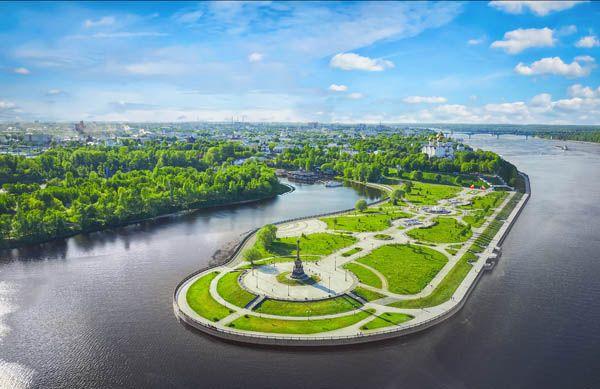 Parque Strelka en Yaroslavl