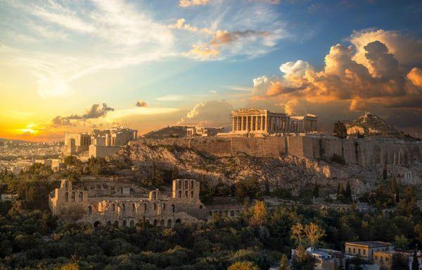 Acropolis de Atenas al atardecer