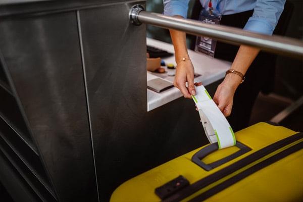 etiqueta para las maletas de un crucero