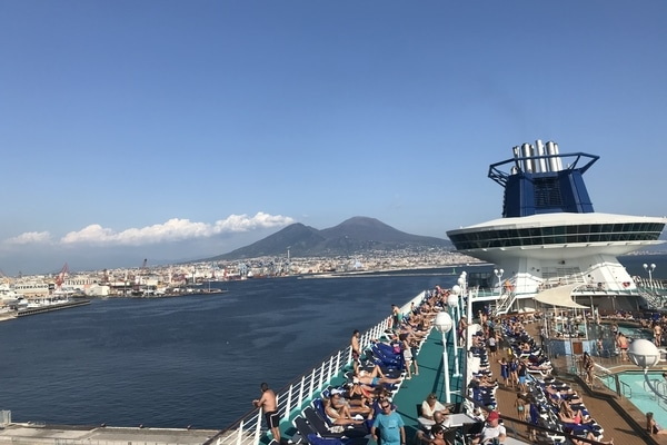Crucero 5 maravillas del Mediterráneo Pullmantur cubierta exterior